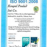 ISO 9001-2008 شرکت کوپال پولاد